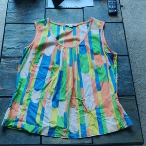 Boden Festival Fitted Tank Top Summer Zip Size 10
